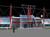 Стадион с трибунами на 3000 мест
